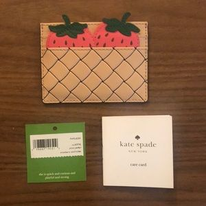 Kate Spade Picnic Perfect Strawberry Card Holder